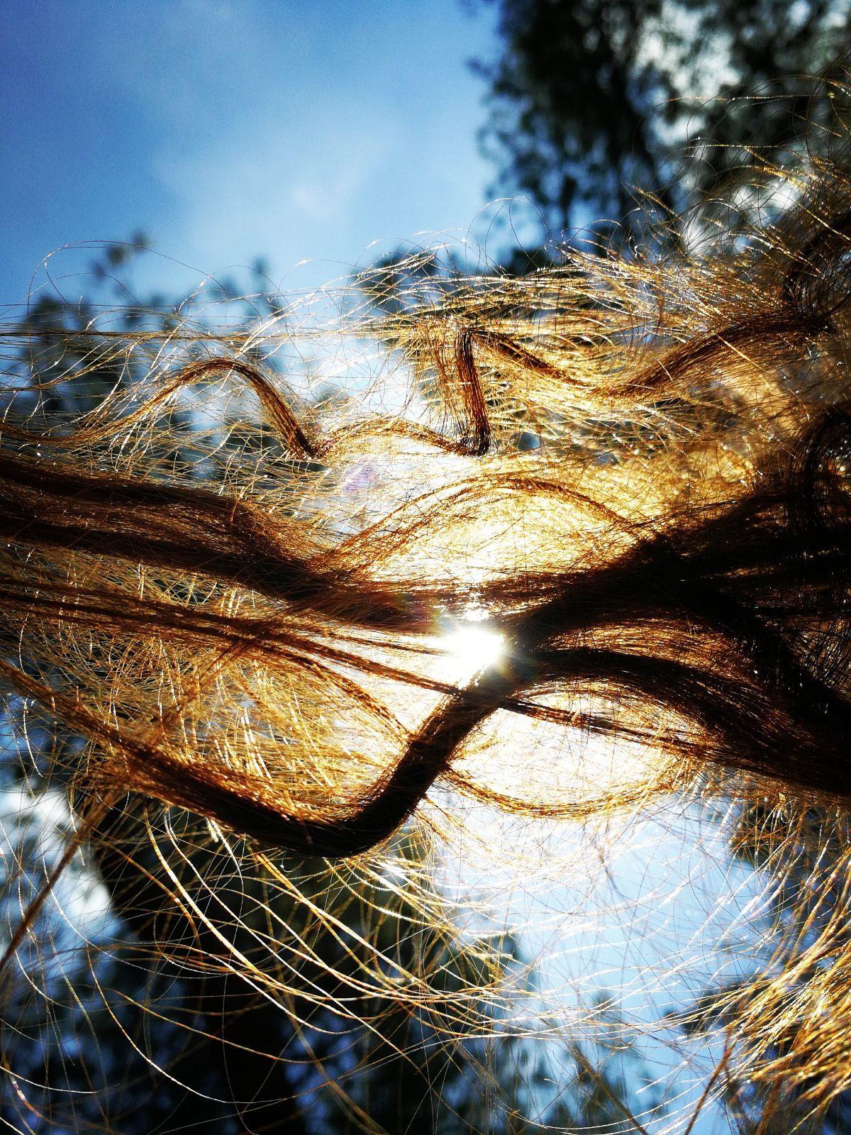 שמש בשיער